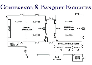 Floor Plan of Washington Plaza Hotel
